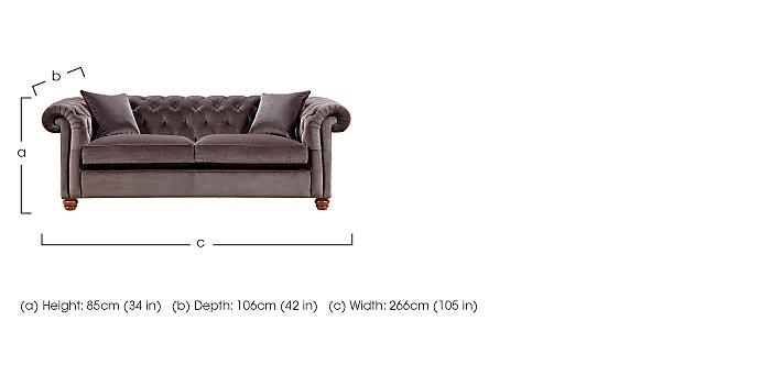 Downton Small 3 Seater Sofa in  on Furniture Village