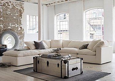 Cloud Fabric Corner Unit in  on Furniture Village