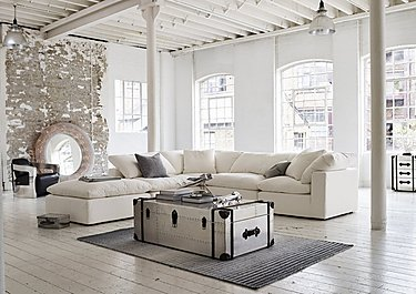Cloud Fabric Footstool in  on Furniture Village