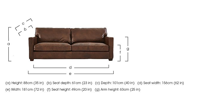 Fulham Broadway 2 Seater Leather Sofa in  on Furniture Village