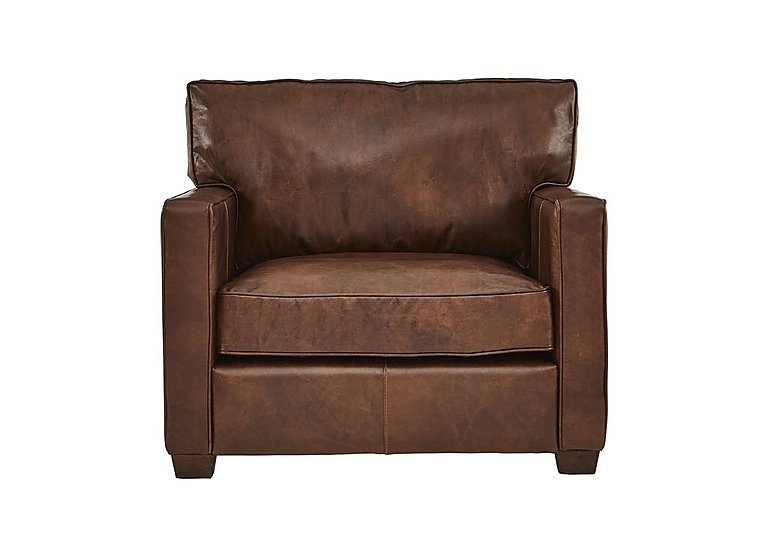 Fulham Broadway Leather Armchair in Antique Whisky Ao on Furniture Village