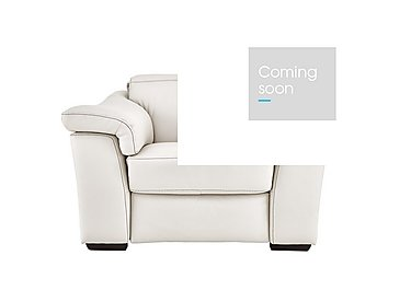Sensor Leather Power Recliner Love Seat - Only One Left! in Denver 10 Bl White on Furniture Village