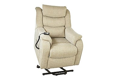 Denver Lift and Rise Fabric Armchair in 1044-0023 Crackle Mink on Furniture Village