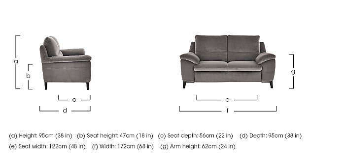 Puglia 2 Seater Fabric Recliner Sofa in  on Furniture Village