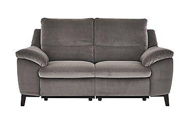 Puglia 2 Seater Fabric Recliner Sofa in Brezza 70207703 Dark Grey on Furniture Village