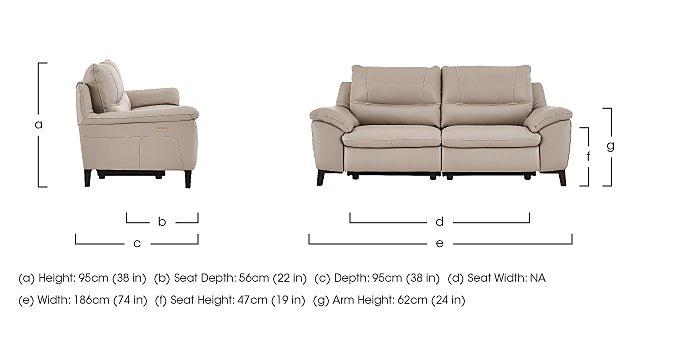 Puglia 2.5 Seater Leather Recliner Sofa in  on Furniture Village