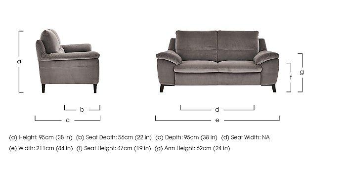 Puglia 3 Seater Fabric Recliner Sofa in  on Furniture Village