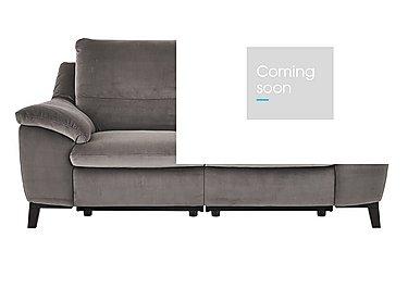 Puglia 3 Seater Fabric Recliner Sofa in Brezza 70207703 Dark Grey on Furniture Village