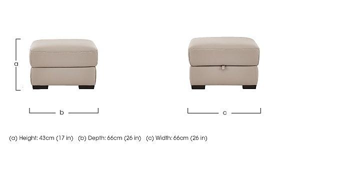 Puglia Leather Storage Footstool in  on Furniture Village