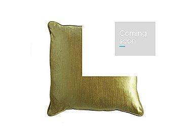 Velveteen Sheen Cushion in Green on Furniture Village
