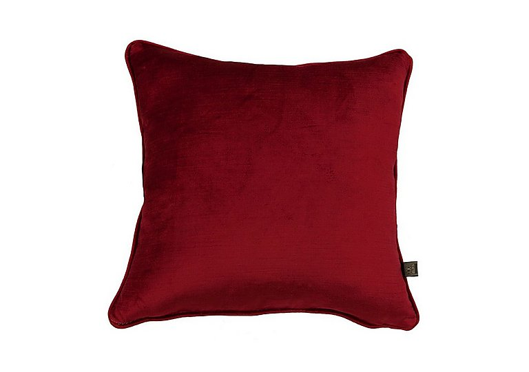 Velvet Sheen Cushion in Red on Furniture Village