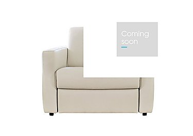 Arona Leather Armchair - Only One Left! in 001 - Denver 10bl Warm White on Furniture Village