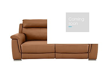 Glider 2 Seater Power Recliner Leather Sofa - Only One Left! in Sk598d Caramel on Furniture Village