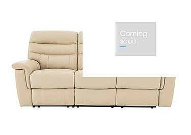 Relax Station Serenity 3 Seater Leather Sofa - Only One Left! in Bv 8123 Light Cream on Furniture Village