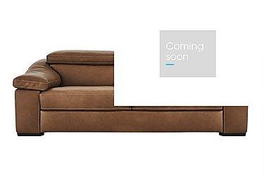 Sanremo 3 Seater Leather Sofa in Dc20jr Rawhide Camel Cs Hemp on Furniture Village