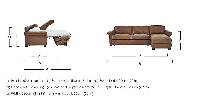 Campania Leather Corner Chaise Sofa Bed with Storage in  on Furniture Village
