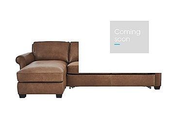Campania Leather Corner Chaise Sofa Bed with Storage in Bari 10yn Sambuco on Furniture Village