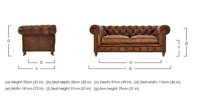Kingston Mews 2 Seater Leather Sofa in  on Furniture Village