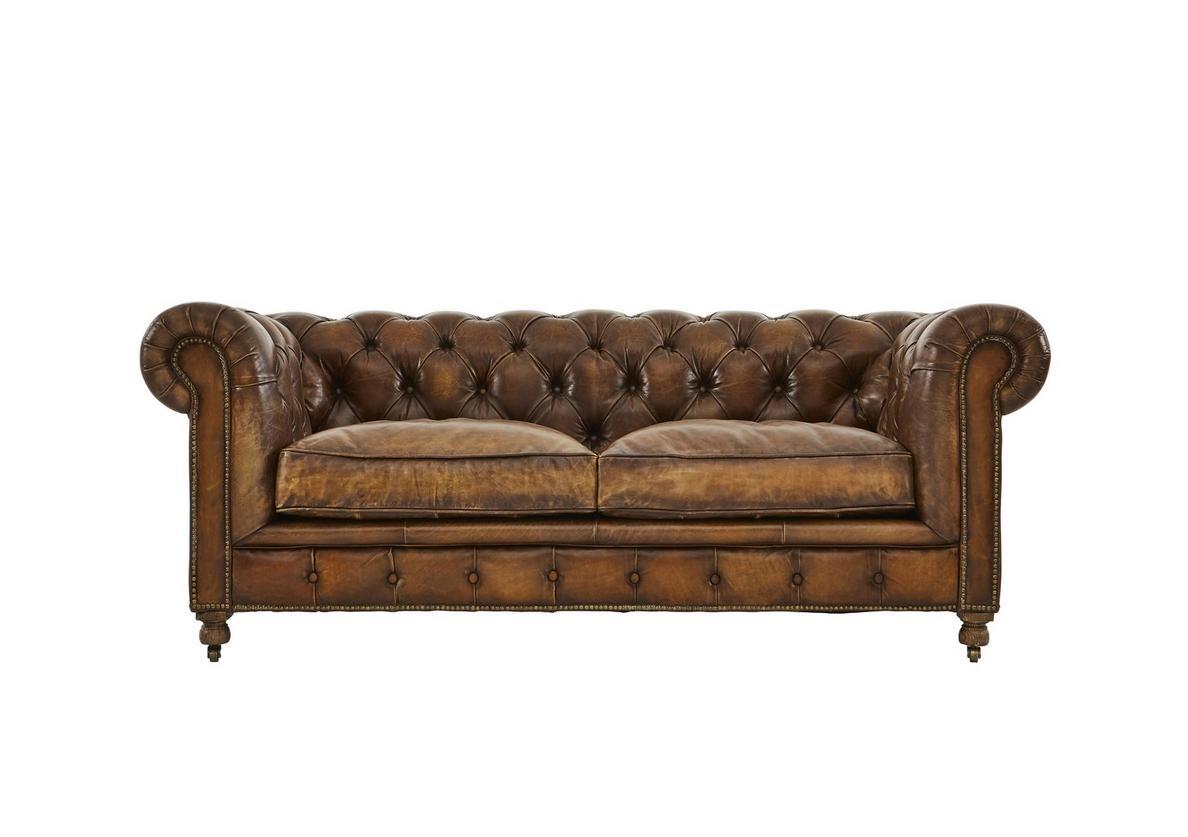 Halo kingston mews 2 seater leather sofa