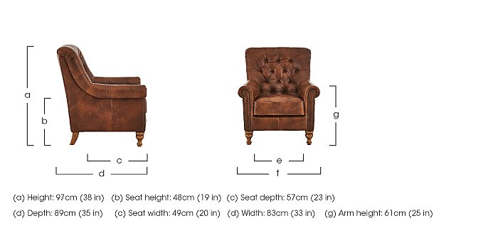Cuba Leather Armchair in  on Furniture Village
