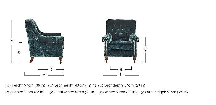 Cuba Fabric Armchair in  on Furniture Village