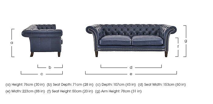 Aruba 3 Seater Leather Sofa in  on Furniture Village
