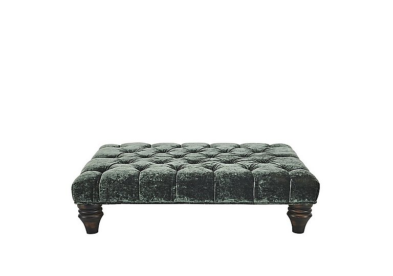 Aruba Fabric Footstool in Eve Jewel Dk on Furniture Village