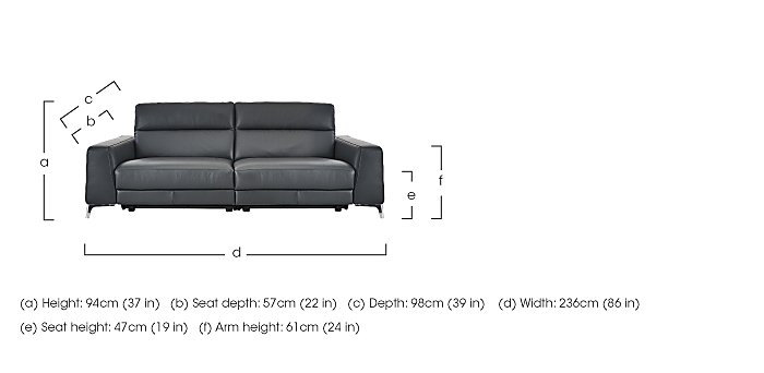 Livorno 3 Seater Leather Recliner Sofa in  on Furniture Village