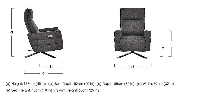 Tivoli Fabric Recliner Armchair in  on Furniture Village
