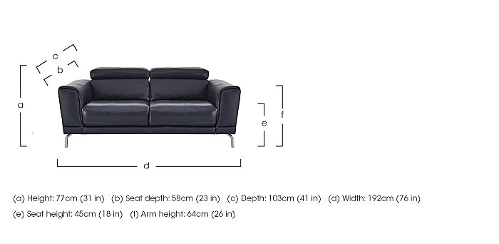 Calabria 2 Seater Leather Sofa in  on Furniture Village