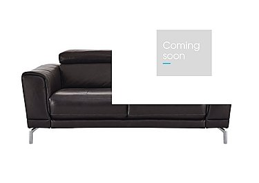 Calabria 2 Seater Leather Sofa in Denver 10bh Drk Brwn Cs Drk Bg on Furniture Village