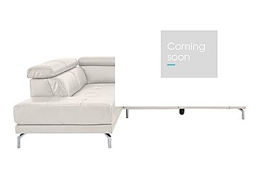 Calabria Leather Recliner Corner Chaise in Denver 10bs Smk Gry Cs Lgt Gy on Furniture Village