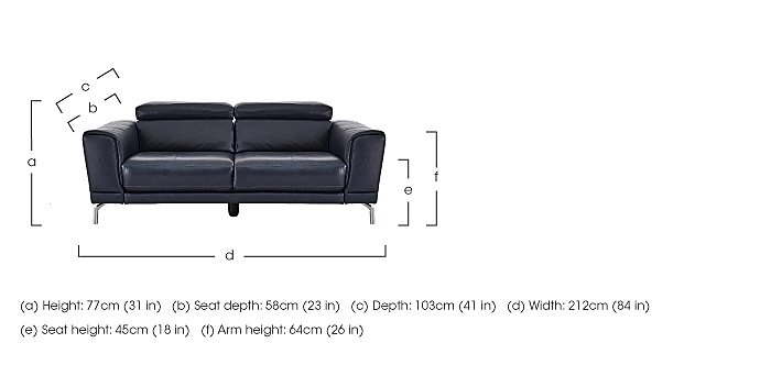 Calabria 3 Seater Leather Sofa in  on Furniture Village