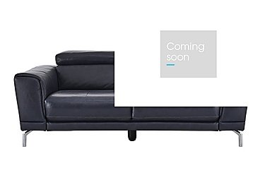 Calabria 3 Seater Leather Sofa in Ischia 10wg Ocean Blue on Furniture Village
