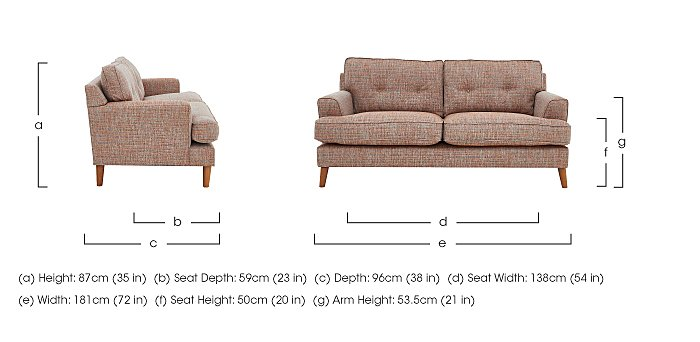 Line 2 Seater Fabric Sofa in  on Furniture Village