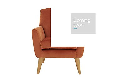 Line Fabric Accent Armchair in Capri Coral Lt Col 2 Light on Furniture Village