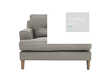 Line Fabric Snuggler Armchair in Suma Silver Col 7 Hoxton on Furniture Village