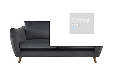 City Loft 3 Seater Fabric Sofa in Capri Pewter Hox Col 7 on Furniture Village
