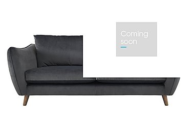 City Loft 4 Seater Fabric Sofa in Capri Pewter Hox Col 7 on Furniture Village