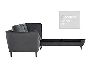 City Loft Fabric Corner Sofa in Capri Pewter Dk Col 3 on Furniture Village