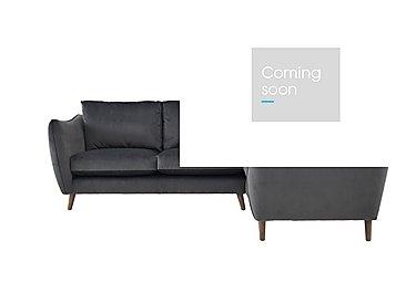 City Loft Fabric Corner Sofa in Capri Pewter Hox Col 7 on Furniture Village