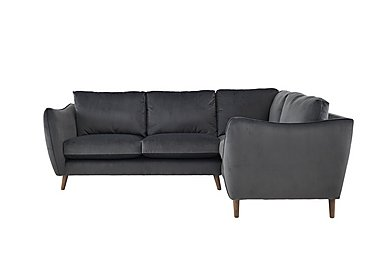 City Loft Fabric Corner Sofa in Capri Pewter Hox Col 7 on Furniture Village