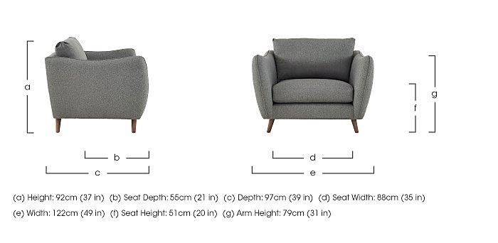 City Loft Fabric Snuggler Armchair in  on Furniture Village
