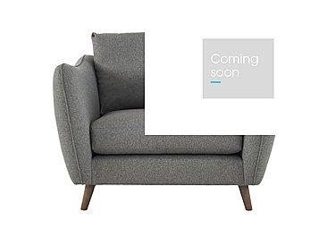City Loft Fabric Snuggler Armchair in Suma Silver Hox Col 7 on Furniture Village
