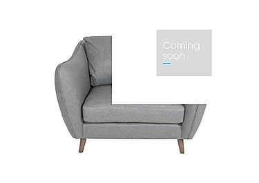 City Loft Fabric Snuggler Armchair in Wool Blend Grey Hox Col 7 on Furniture Village