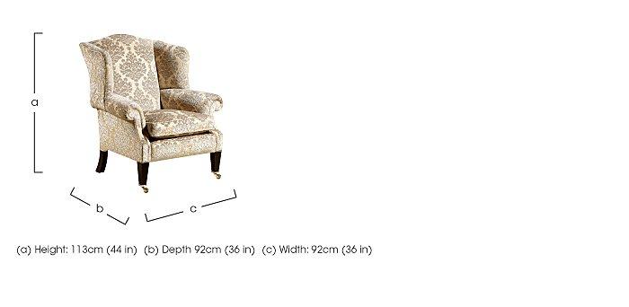 Berkeley Nightingale Fabric Armchair in  on Furniture Village