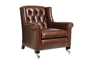 Sunday Gents Armchair in Clyde Cognac on Furniture Village