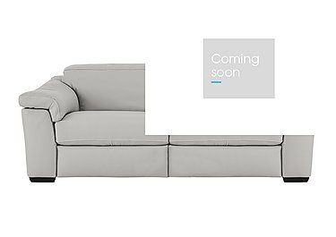 Sensor 2 Seater Leather Recliner Sofa in Phoenix 15g3 Lgt Taupe Cs Whit on Furniture Village