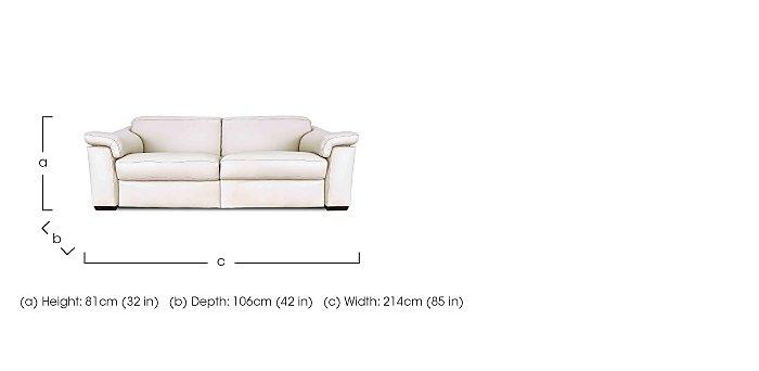 Sensor 3 Seater Recliner Leather Sofa in  on Furniture Village
