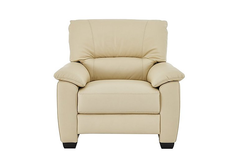 Apollo Leather Armchair in Bv-004c Bone on Furniture Village